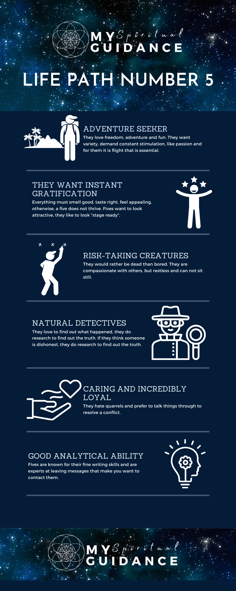 Life Path Number 5 The Adventurer infographic